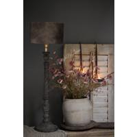 Baluster lampvoet Old grey inclusief kap