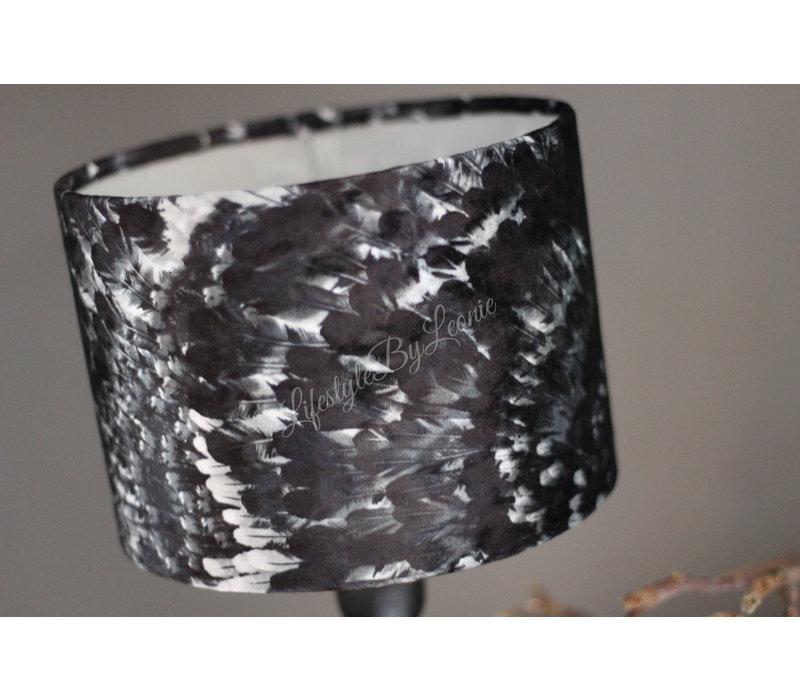 Velvet cilinder lampenkap Feather 20 cm