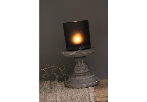 Dutz DUTZ cilinder windlicht smoke-black 10 cm