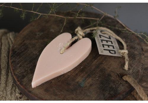 Mijn Stijl Mijn Stijl zeephanger hart pastelroze XL