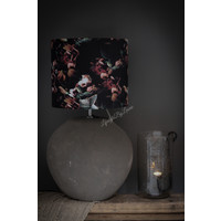 Cilinder lampenkap Black hortensia 35 cm