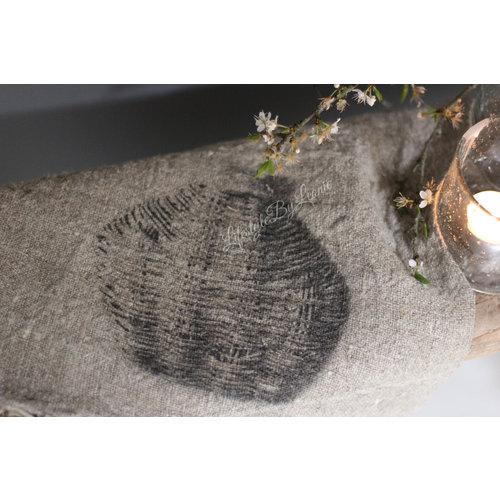 Shabby linnen doek Vismand