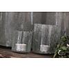 Brynxz Brynxz glazen windlicht steenslag helder 8 cm