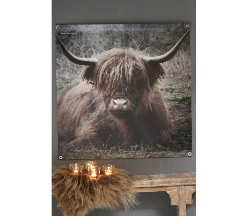 Tuinposter / doek Buffel 100 cm