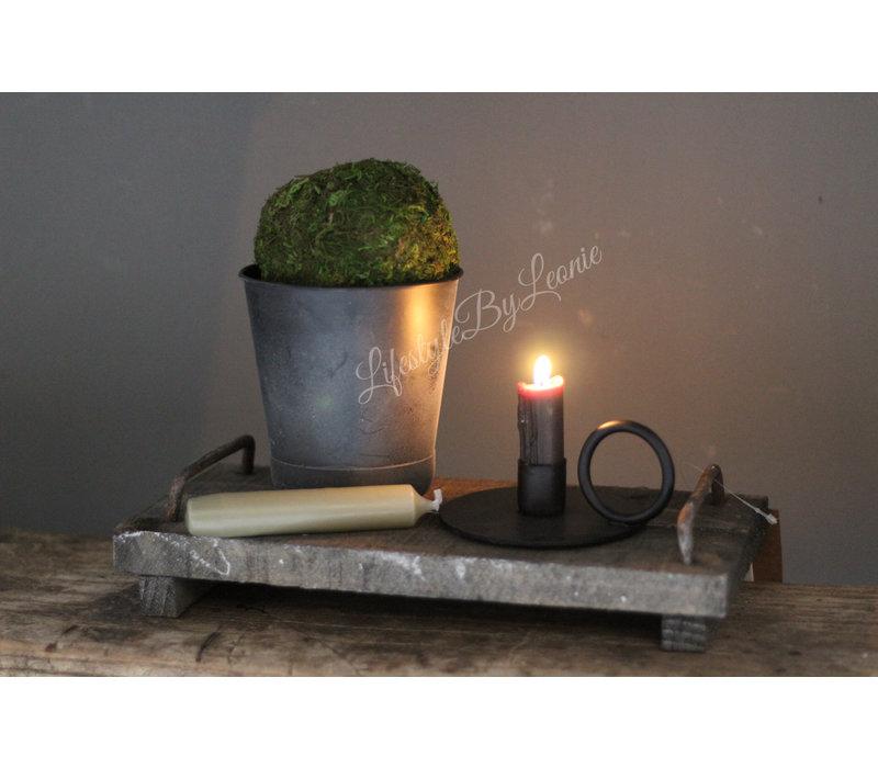 Geschenkset houten tray / pot