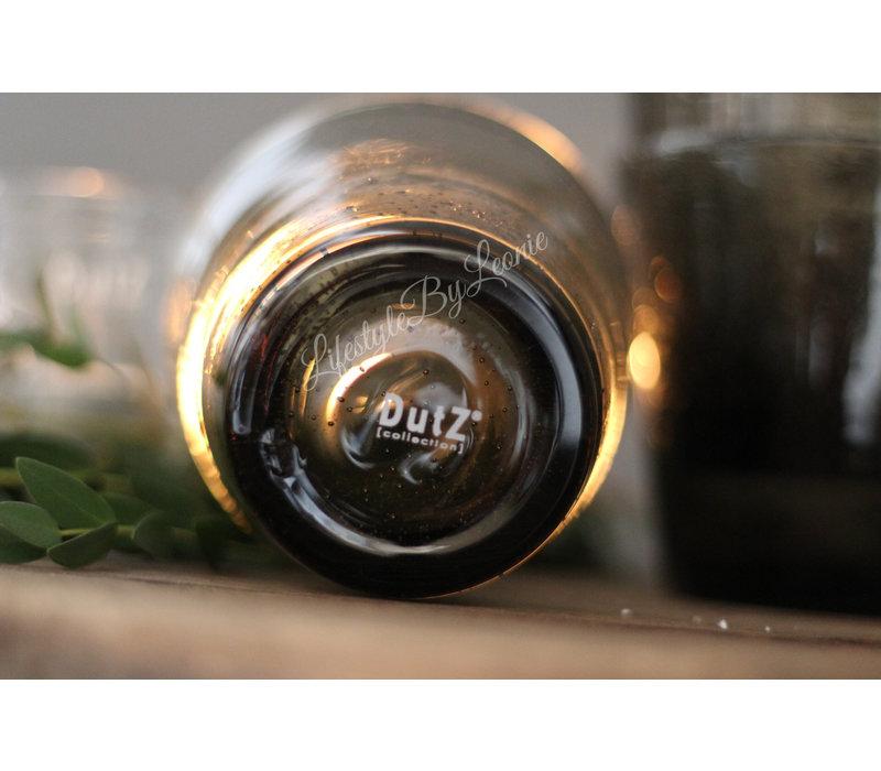 DUTZ (water) glas grijs bubbels 8,5 cm