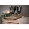 Dutz DUTZ wijnglas op voet grijs bubbels 13 cm