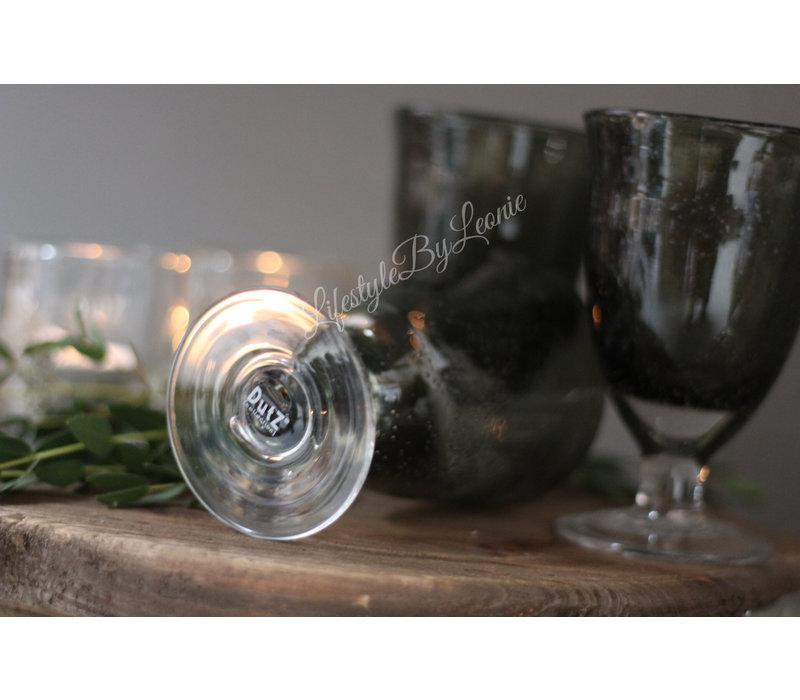 DUTZ wijnglas op voet grijs bubbels 13 cm