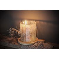 Brynxz glazen windlicht steenslag helder 17 cm