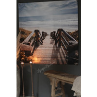 Tuinposter / doek Strand 100 cm