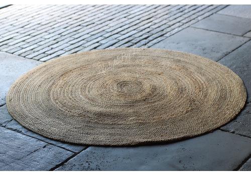 Stoer naturel jute vloerkleed 120 cm