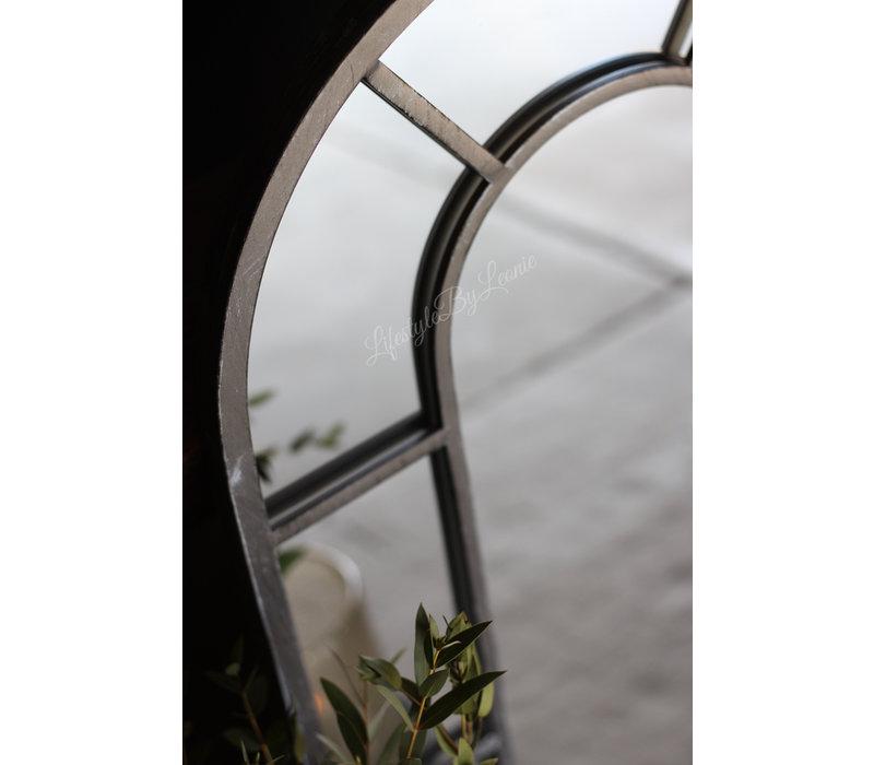 IJzeren raamspiegel zwart 72 cm