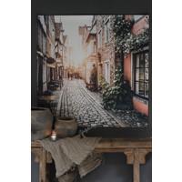Tuinposter / doek Oud straatje 100 cm
