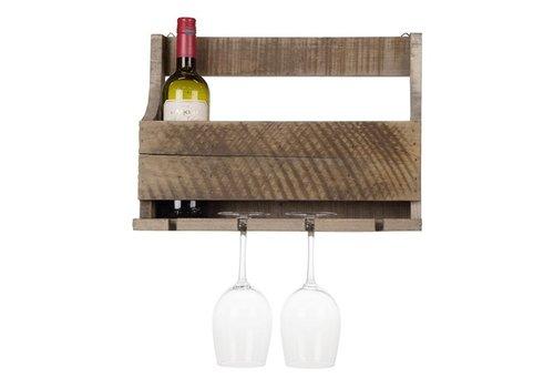 Houten wijnglazen rek 41 cm