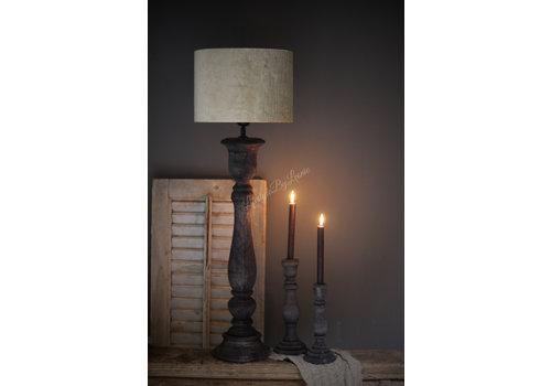Velvet cilinder lampenkap Gemstone sand 30 cm