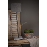Tafellamp met hardstenen voet grijs 55 cm