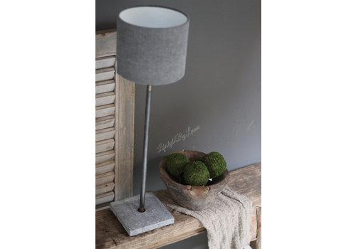 Tafellamp hardstenen voet grijs 55 cm