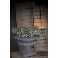 Stenen Franse louvre pot lichtgrijs 28 cm