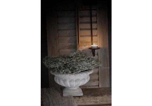 Betonnen Franse louvre pot lichtgrijs 25 cm
