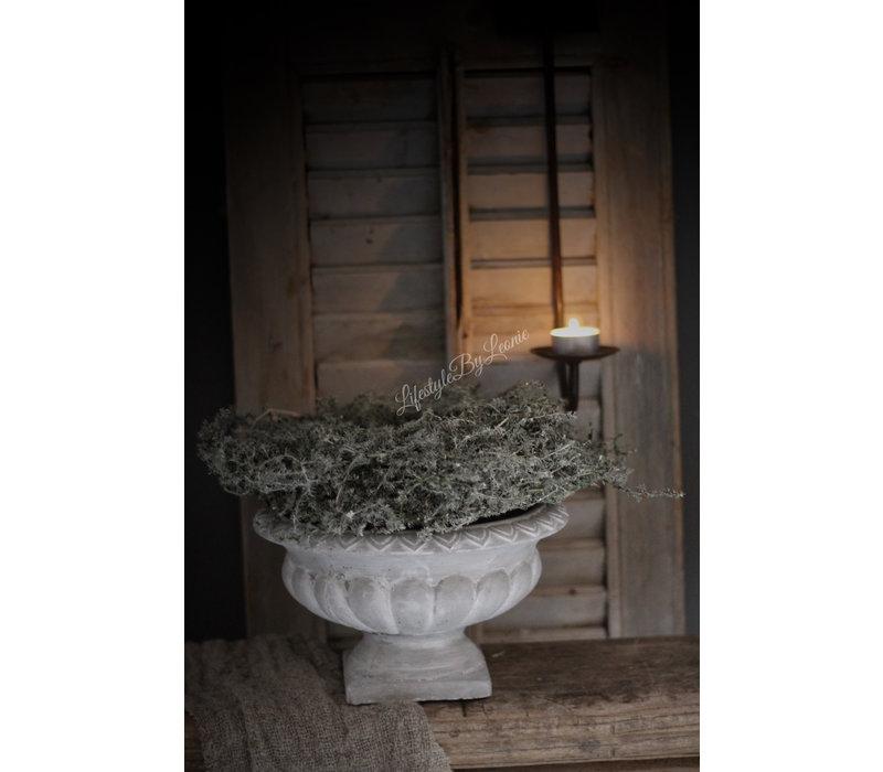 Betonnen Franse louvre pot lichtgrijs 25cm