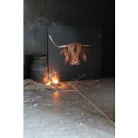 Aluminium wandpaneel Hooglander black