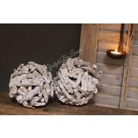 Decobal sprokkelhout white 15 cm