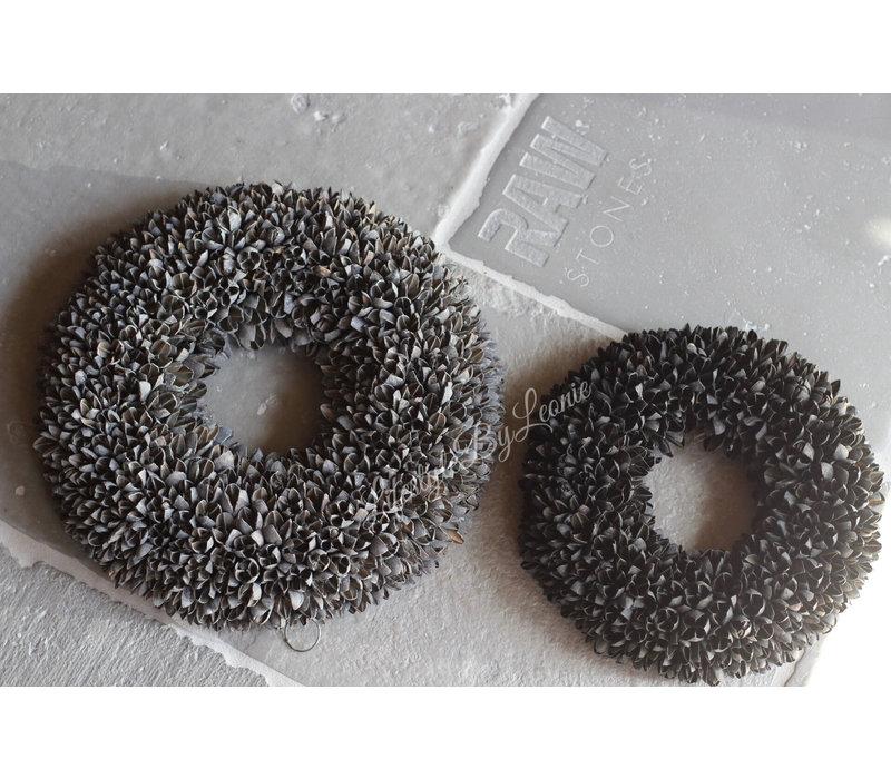 Krans Bakuli dark grey 40 cm