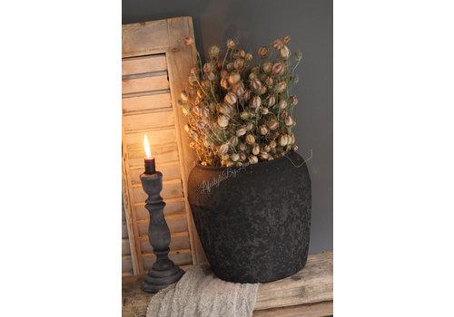 Ronde kruik Toscane zwart 27 cm