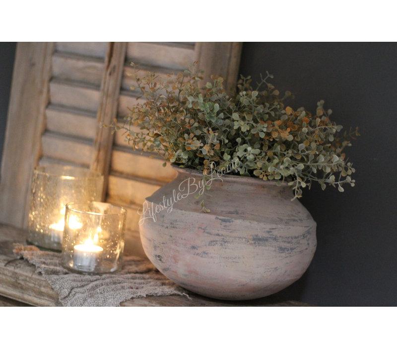 Ronde aardewerk tuimelkruik Earth