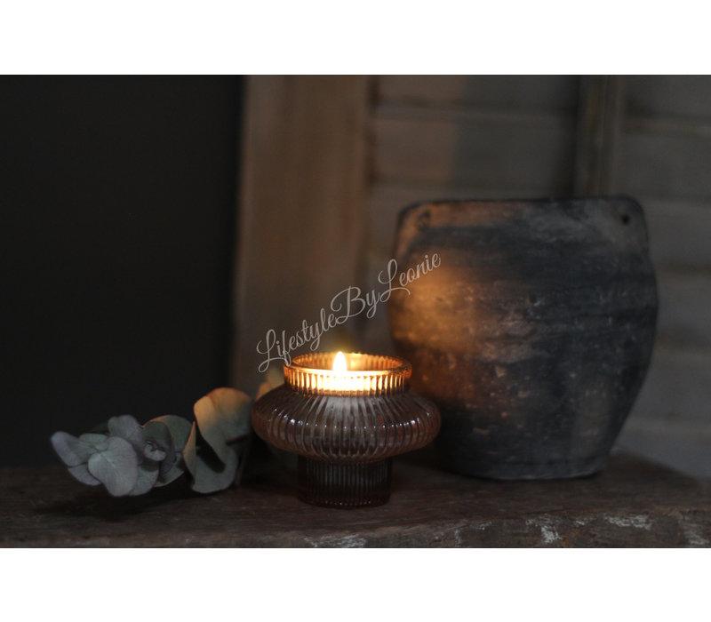 Waxinelichthouder mokka 8 cm
