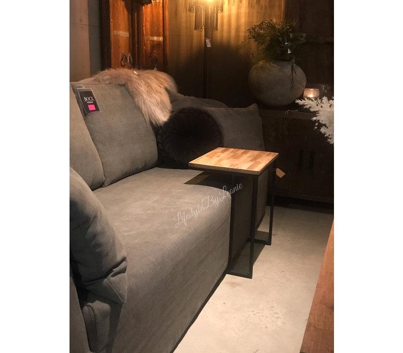 Bank tafel U hout metaal 55 cm
