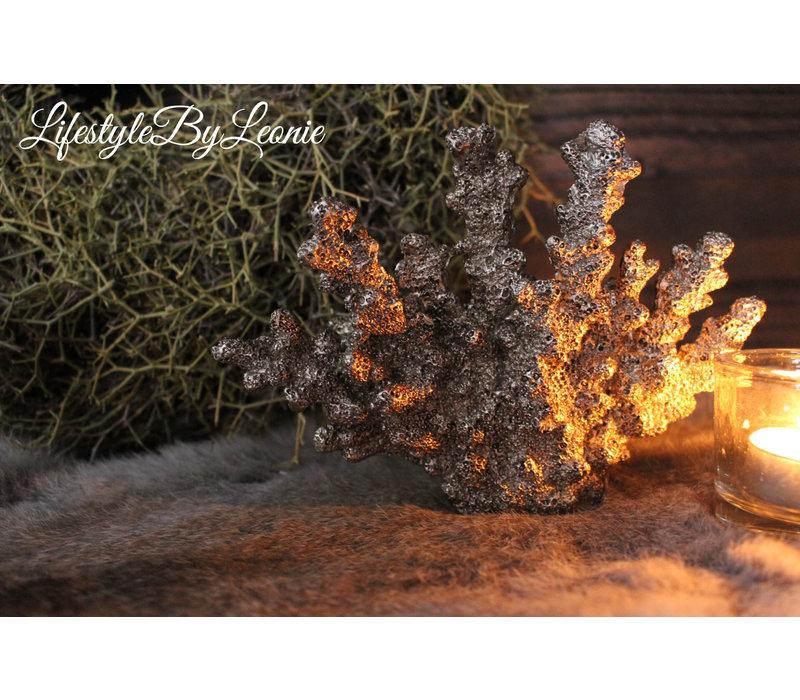 Zilvergrijze koraal 12 x 16 cm