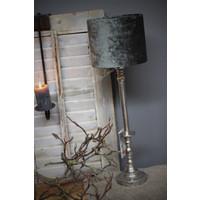 Velvet cilinder lampenkap Antraciet 18 cm