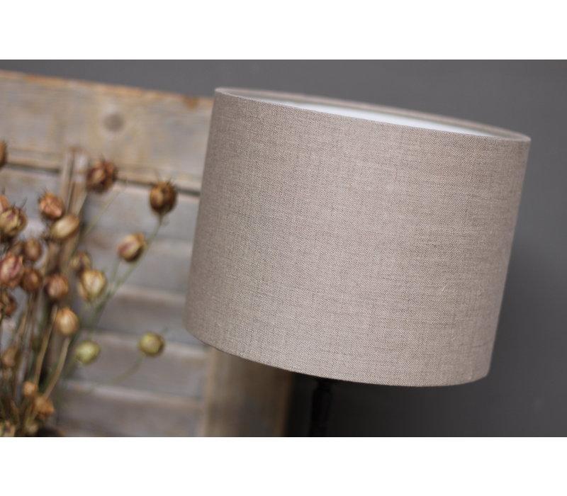 Cilinder lampenkap Dark linen 20 cm