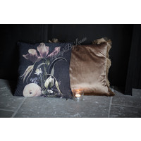 Velvet kussen Sobere bloemen Tulp 45 cm