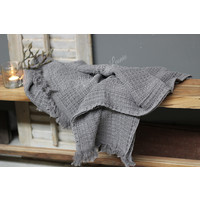 Wafel plaid Stonewashed grey 150 cm