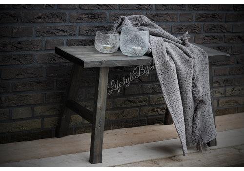 Wafel plaid Stonewashed grey 150 cm