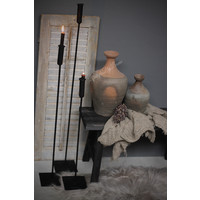 IJzeren vloerkandelaar dinerkaars 73 cm