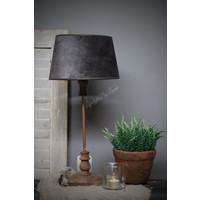 Lampenkap velvet Old black 25 cm