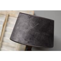 Velvet lampenkap Old black 25 cm