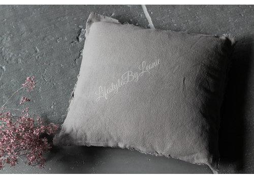 Kussen stonewashed Taupe 45 cm