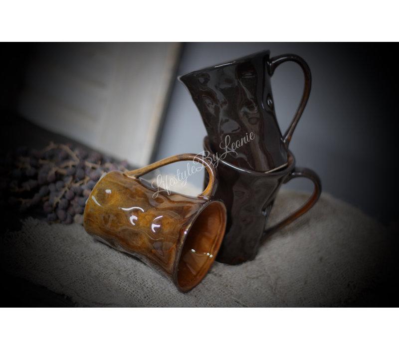 Sober koffiekopje Dark brown 12 cm