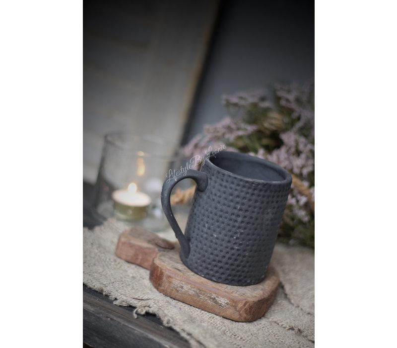 Sober koffiekopje Mat zwart 11 cm