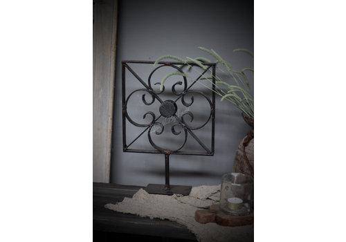 Metalen bloem standaard