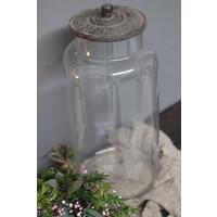 Sobere glazen voorraad pot Old grey XXL