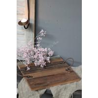Houten tray met hengsel 30 cm