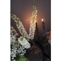 Zijden tak 'Naald van cleopatra' wit 140cm