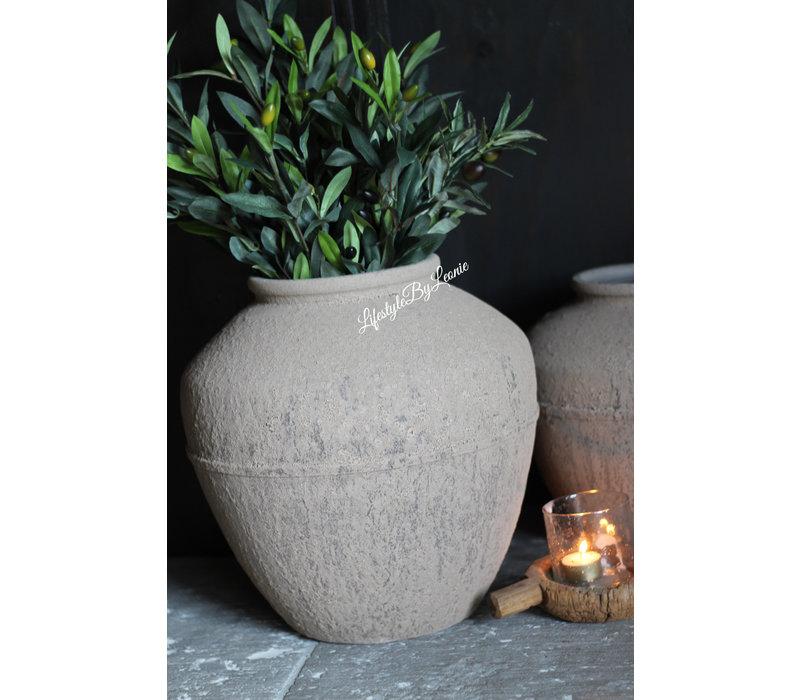 Kruik met smalle hals Toscane sand 34 cm
