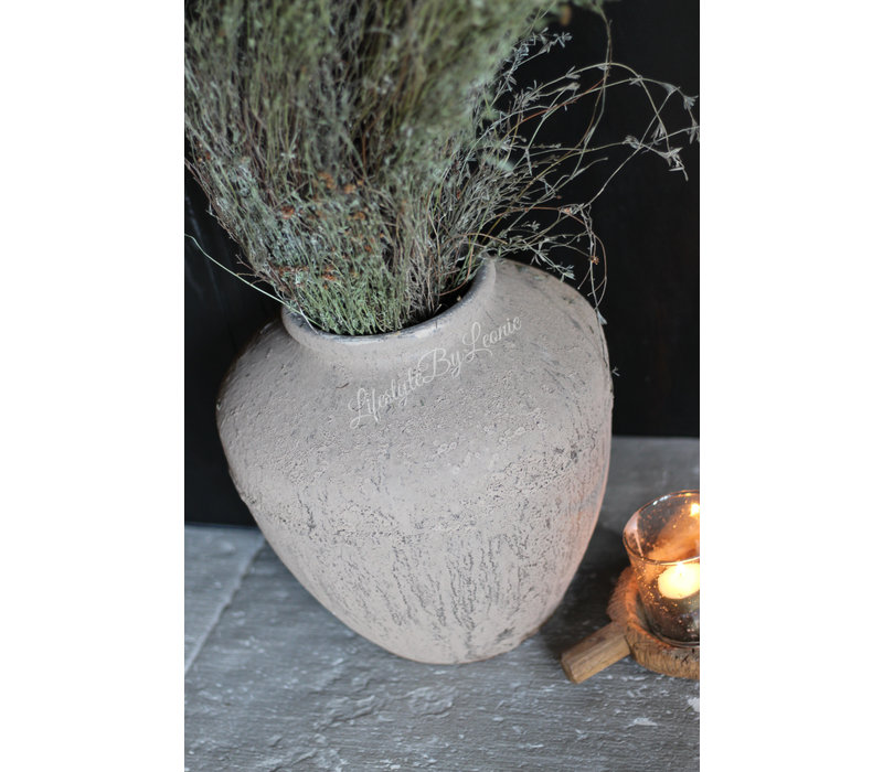 Kruik met smalle hals Toscane sand 29 cm