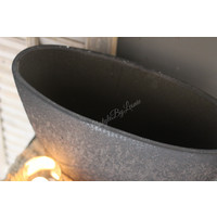 Ovale zwarte pot 44 cm
